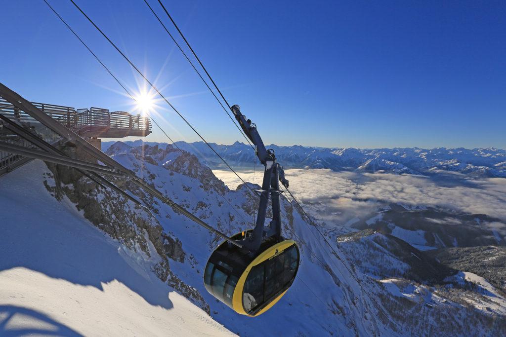 Mit der Panorama-Gondel auf den Gletscher