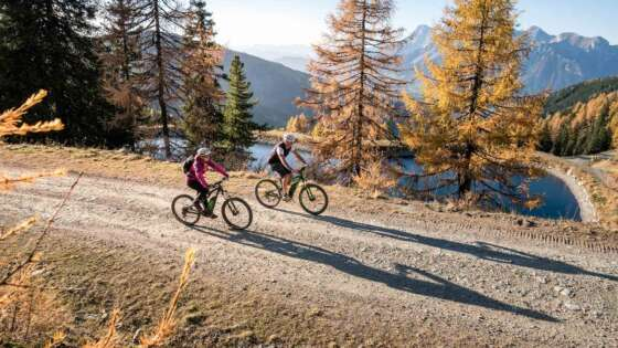 Mit dem Mountainbike auf den Berg