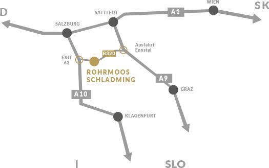 Karte Schladming-Rohrmoos