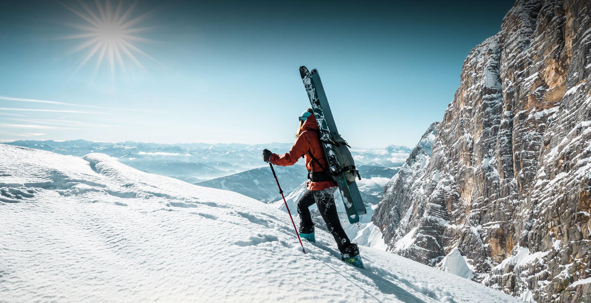 Skitouren im frischen Pulverschnee